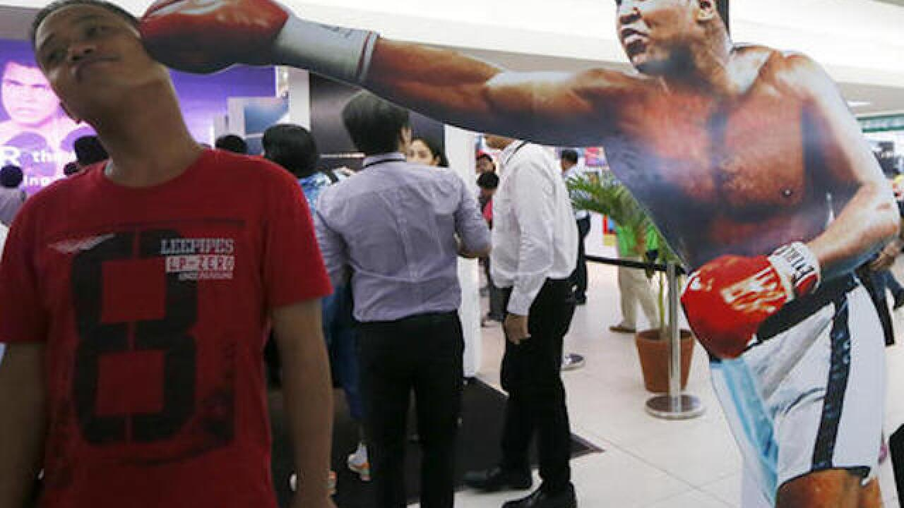 "Muhammad Ali exhibit opens in venue of ""Thrilla in Manila"""