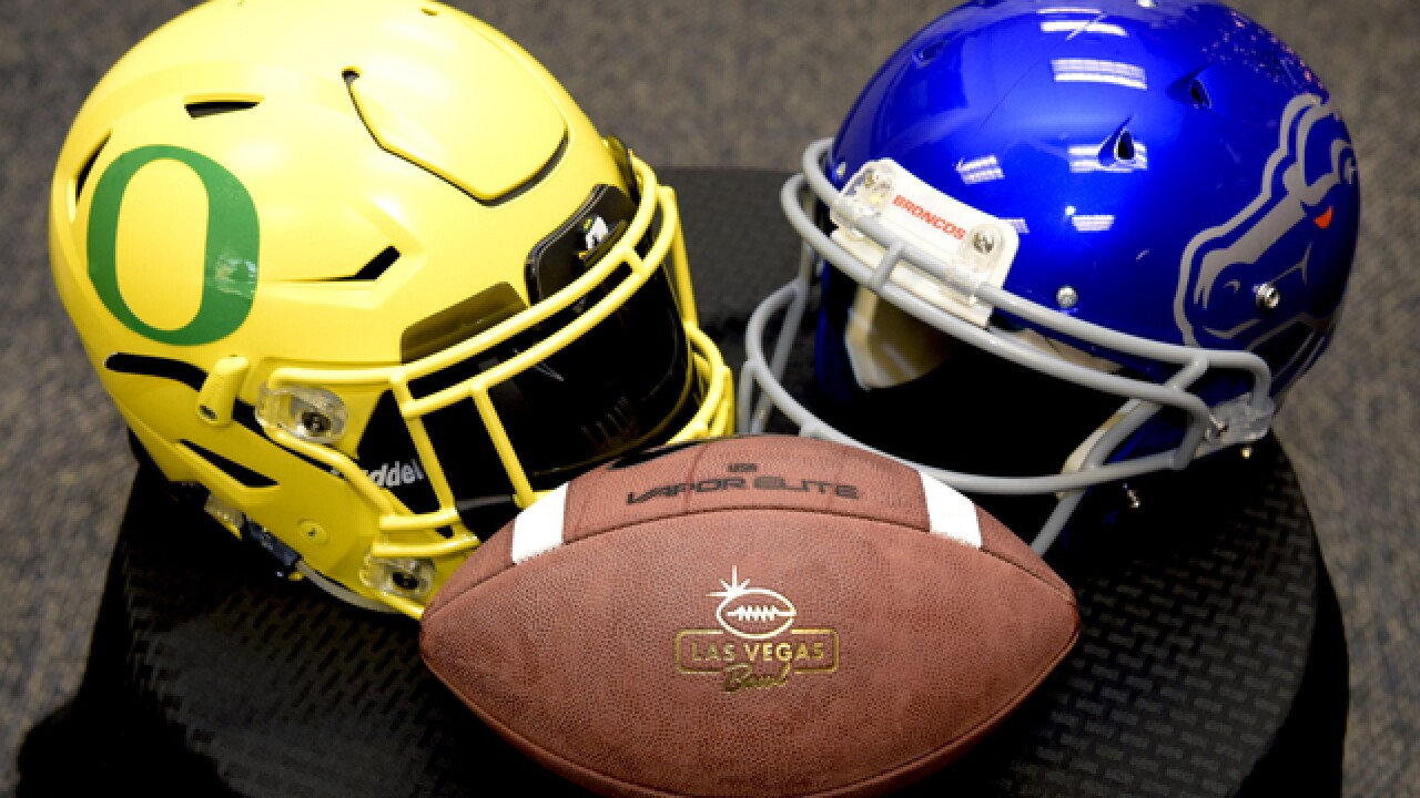 Boise State takes on Oregon in the 2017 Las Vegas Bowl