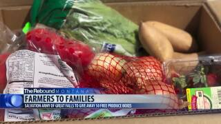 Free produce will be given away on Thursday