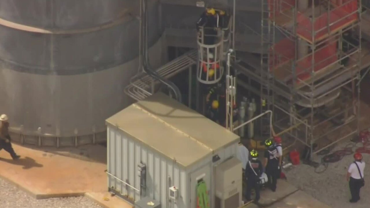 Rescue at FPL substation off of Southern Boulevard on Oct. 13, 2021