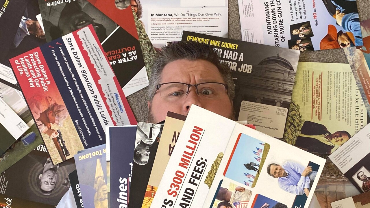 Political mailers flood Montana mailboxes