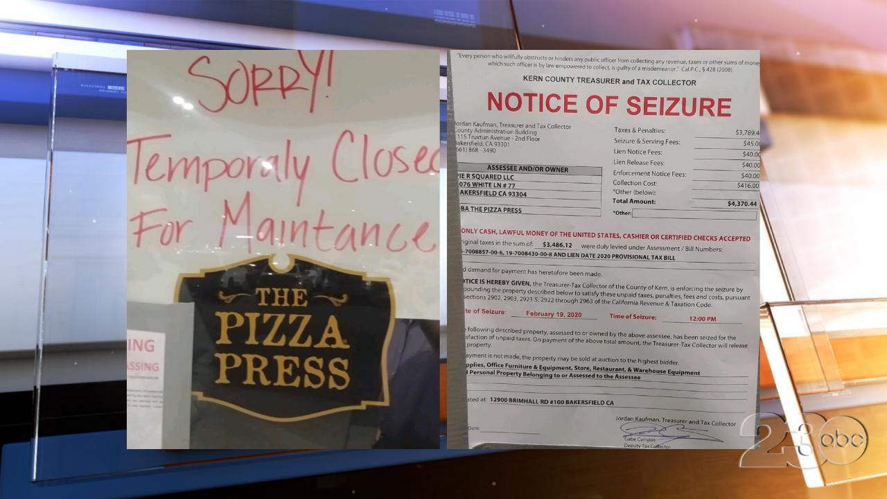 Pizza Press Closure