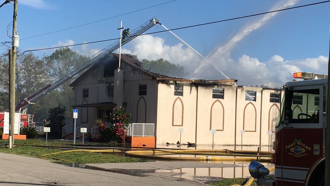 Fire at Morning Star Baptist Church in Fort Myers