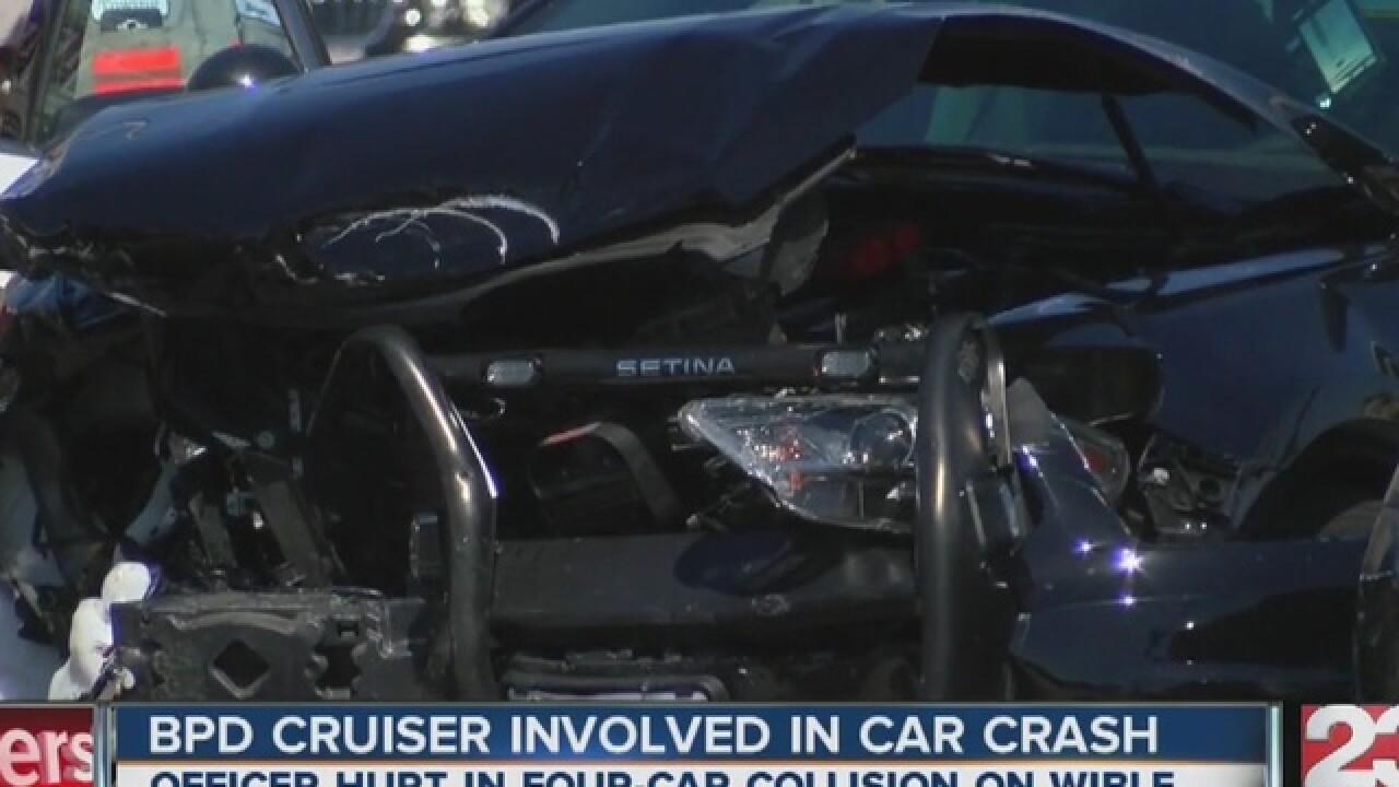 BPD officer rushed to the hospital after crash