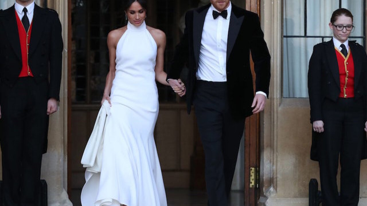 d6048c68431 The dress Meghan Markle wore to the second royal wedding reception was  designed by Stella McCartney