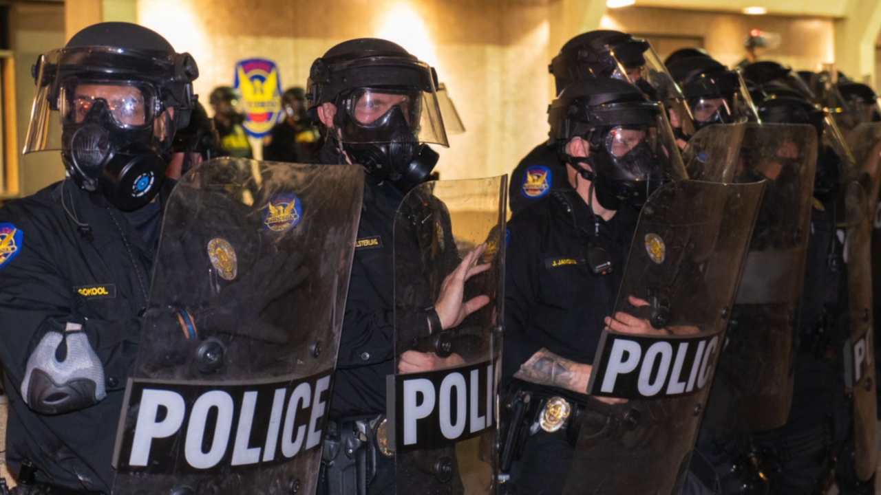 Phoenix police at protests