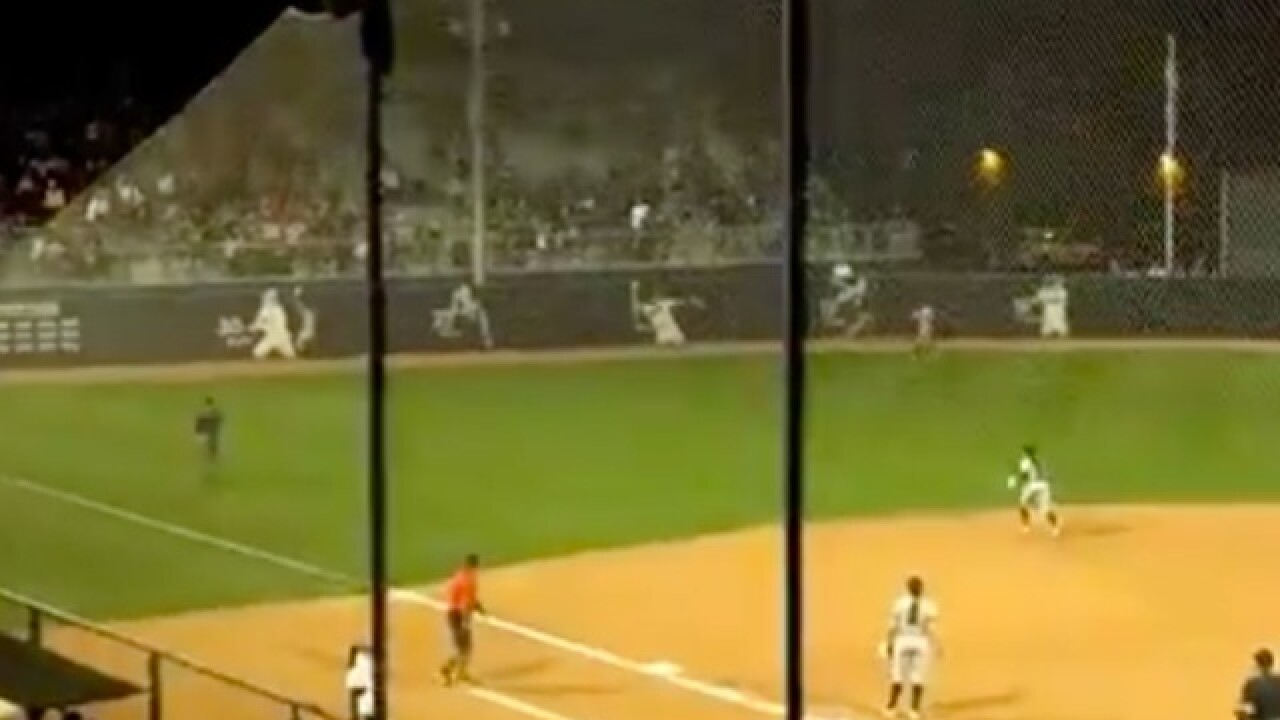 WATCH: Arizona Wildcats softball wins on home run after huge mistake by outfielder