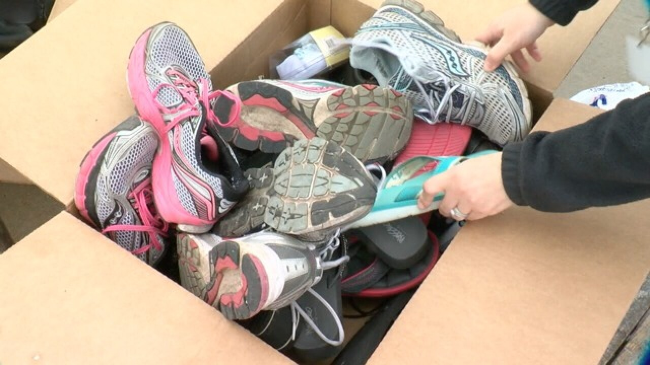 Boy collects thousands of shoes for kids
