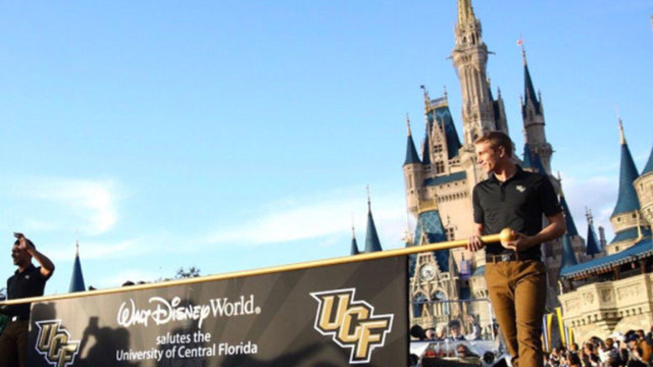 University of Central Florida celebrates undefeated season with parade at Disney World
