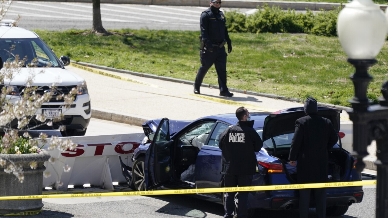A gunman was shot and killed by Capitol Hill Police officers on Friday, April 2nd. The gunman rammed his car into the officers, before being fatally shot himself. Courtesy: Associated Press