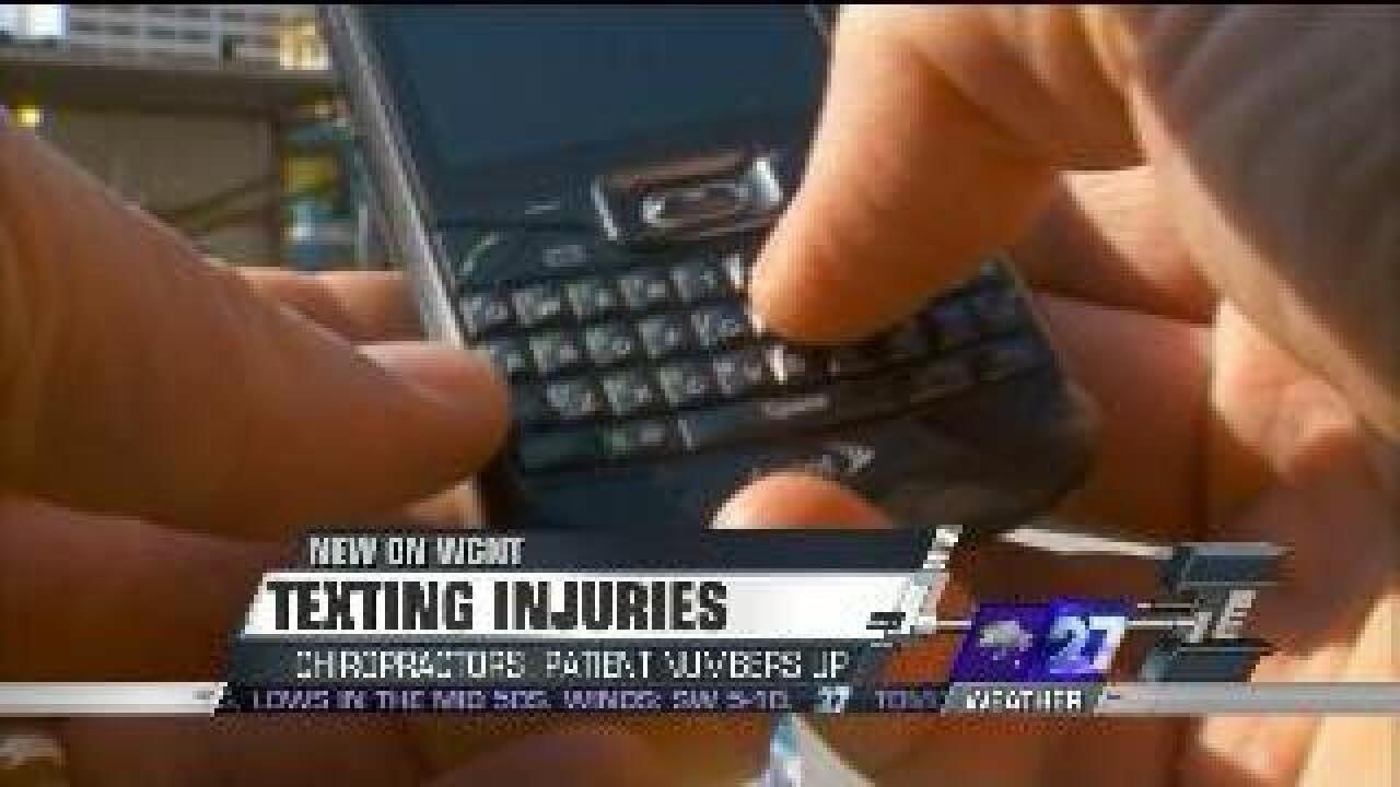 Texting thumb becoming health problem