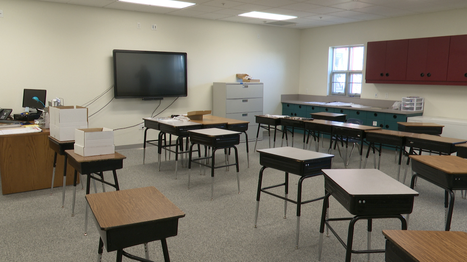 East Helena High School Sets Up For First Classes Held At Middle School