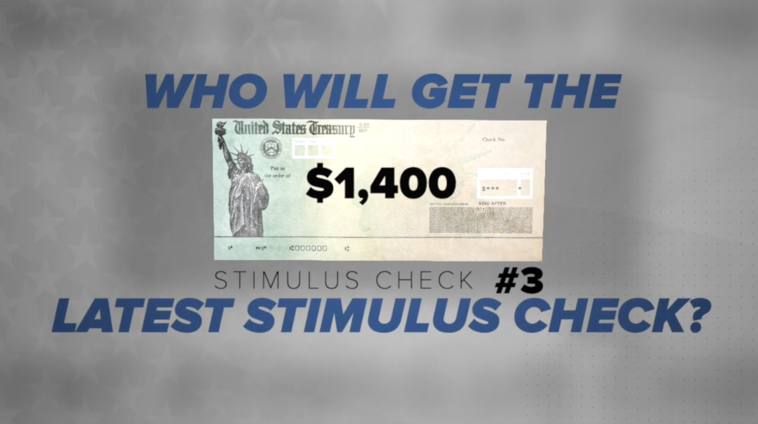 Why you might not get a stimulus check this time around