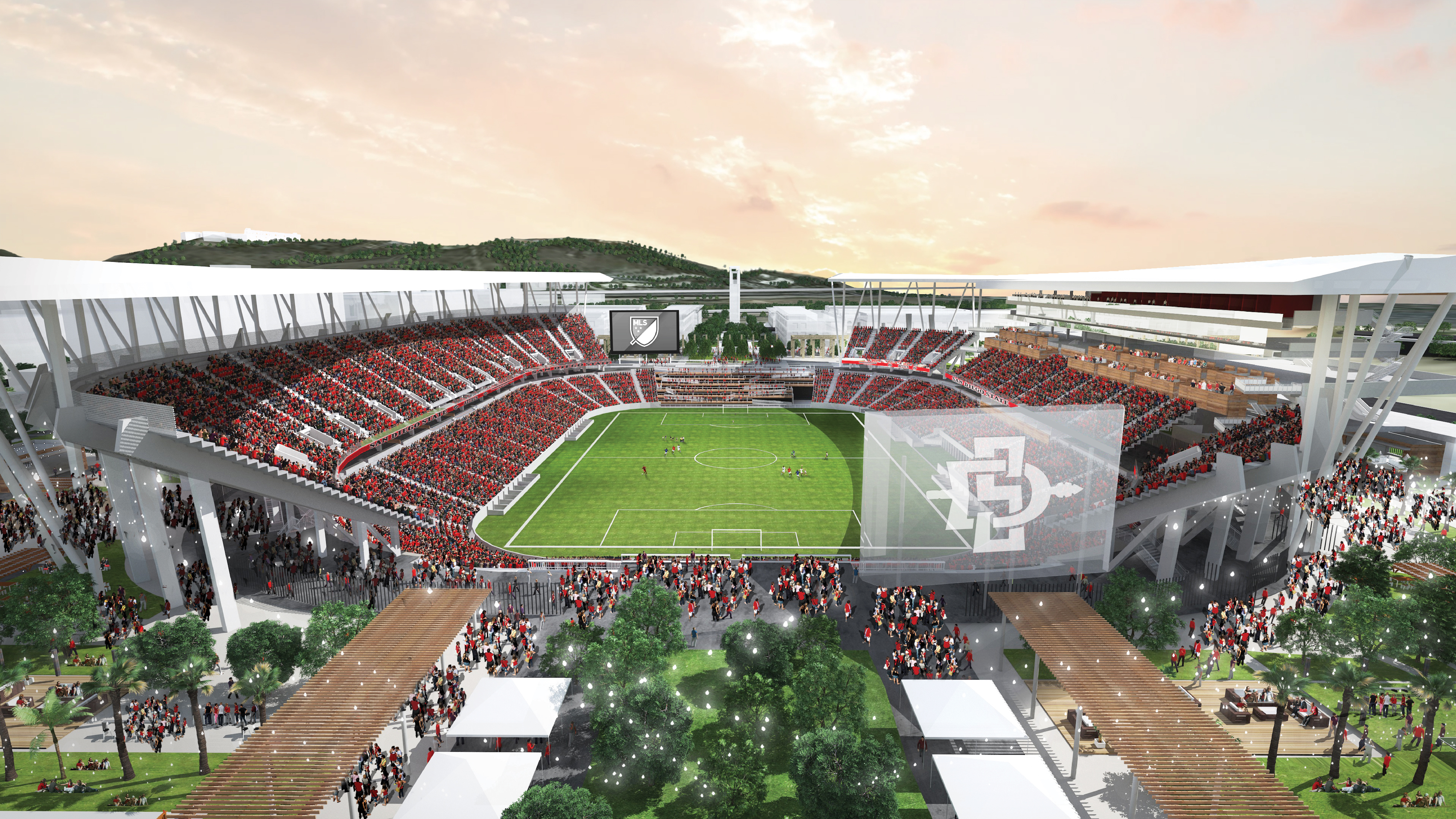 Aztec Stadium plan approved, leaving sale of Mission Valley land (and pandemic) left