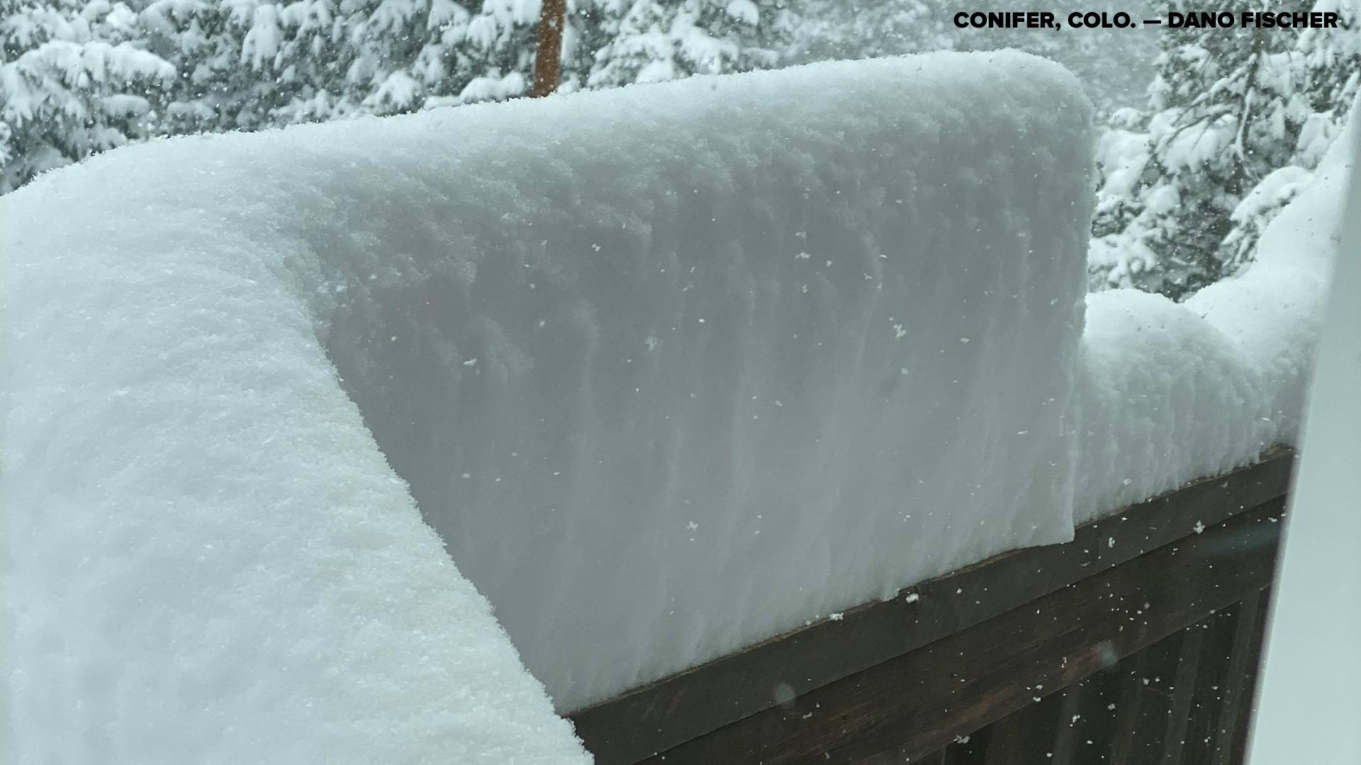 Snow totals for Nov. 20 20, 20 Colorado snowstorm